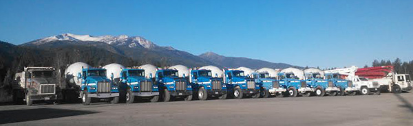 Sousa Ready Mix fleet of concrete mixer trucks