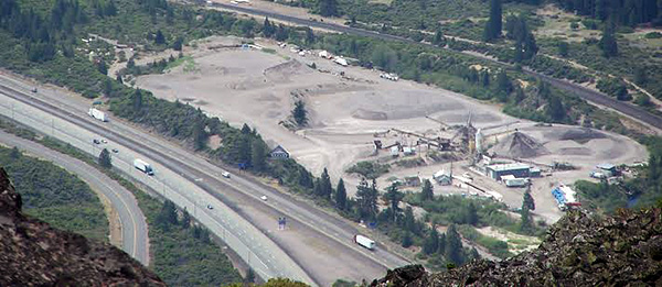 Sousa Ready Mix plant from the top of Black Butte